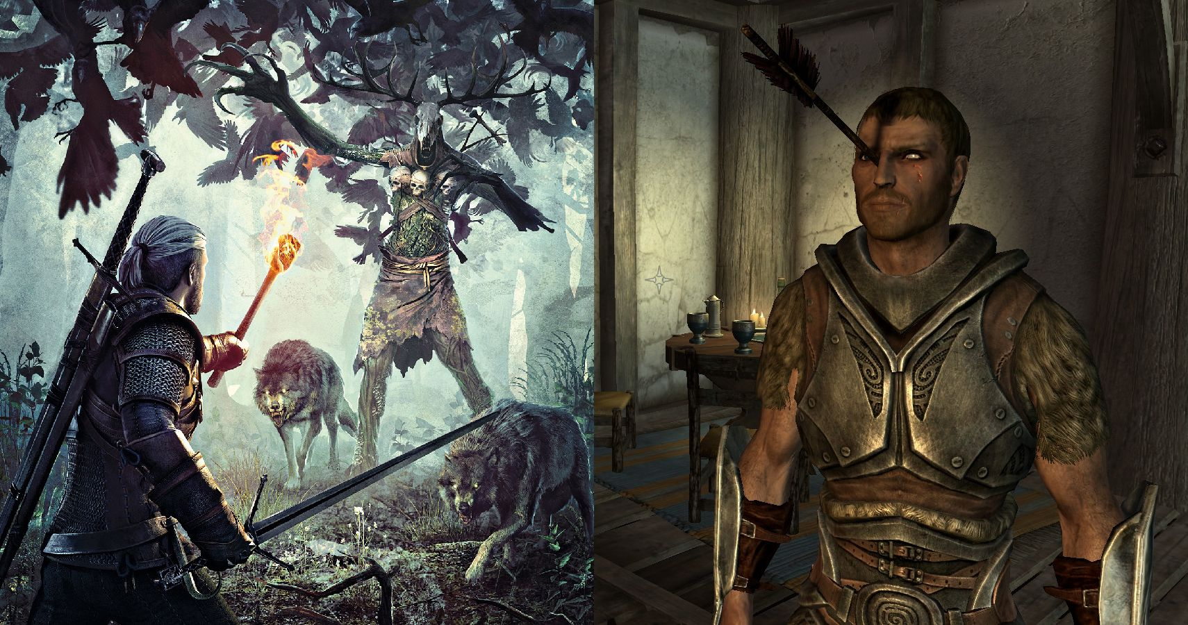 15 Reasons Skyrim Is Worse Than The Witcher 3 | TheGamer