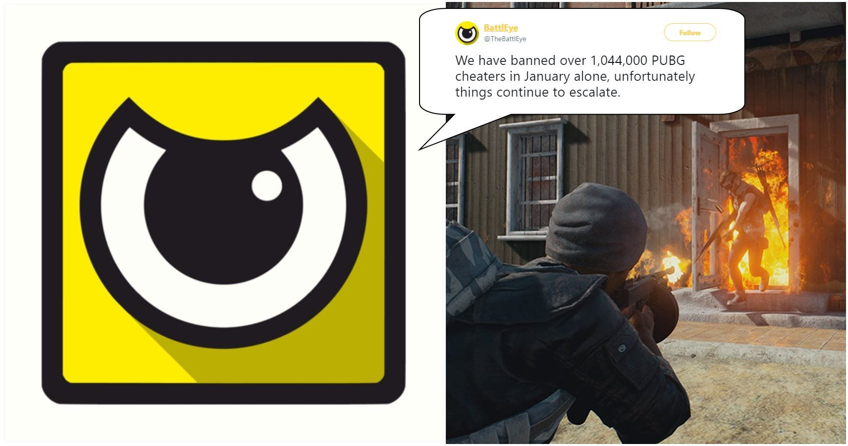 BattlEye: 'We Have Banned Over 1,044,000 PUBG Cheaters In