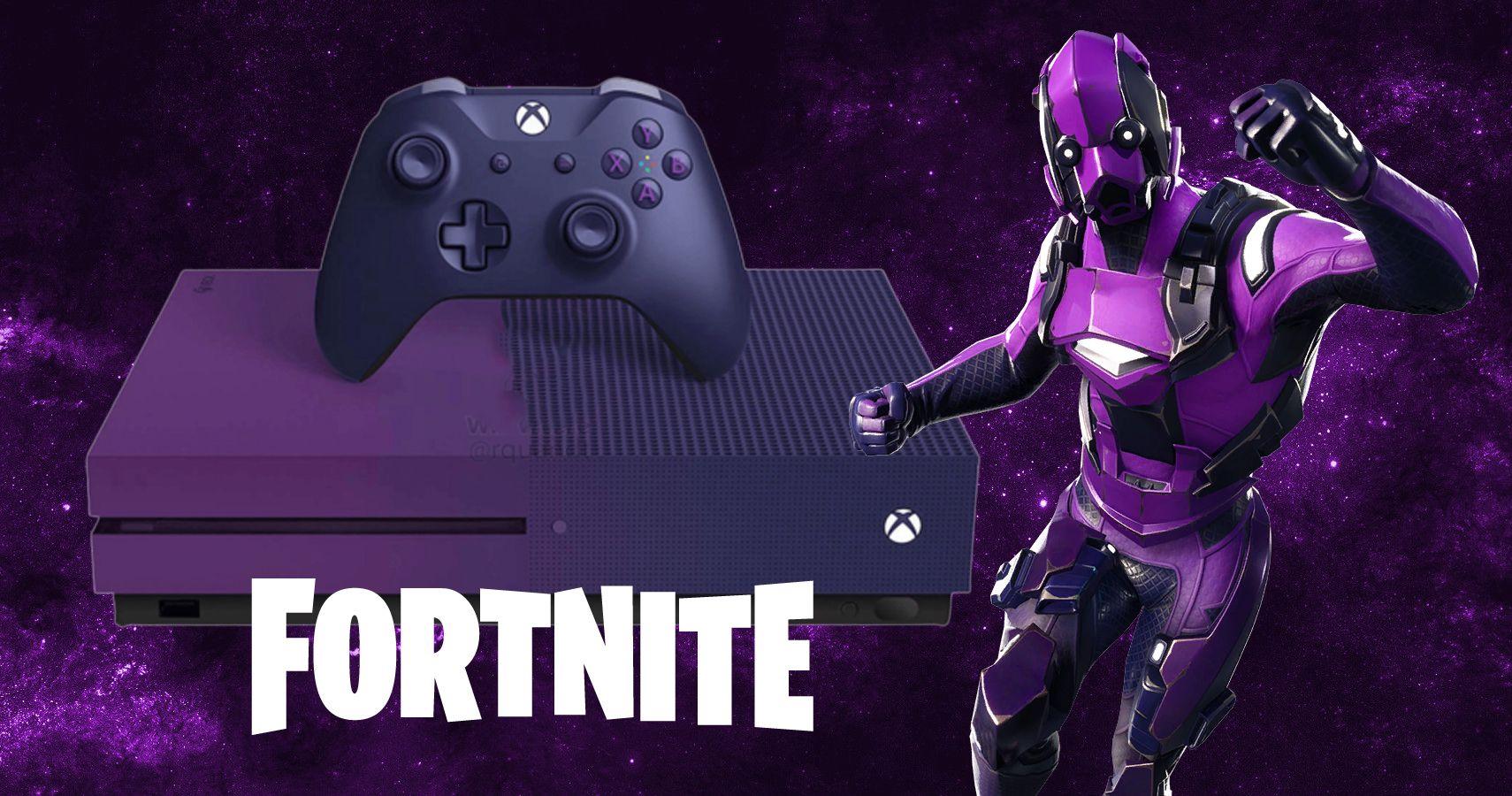 Leaked: Purple Fortnite Xbox One S Bundle Is Coming Soon ... Xbox One Skins Fortnite