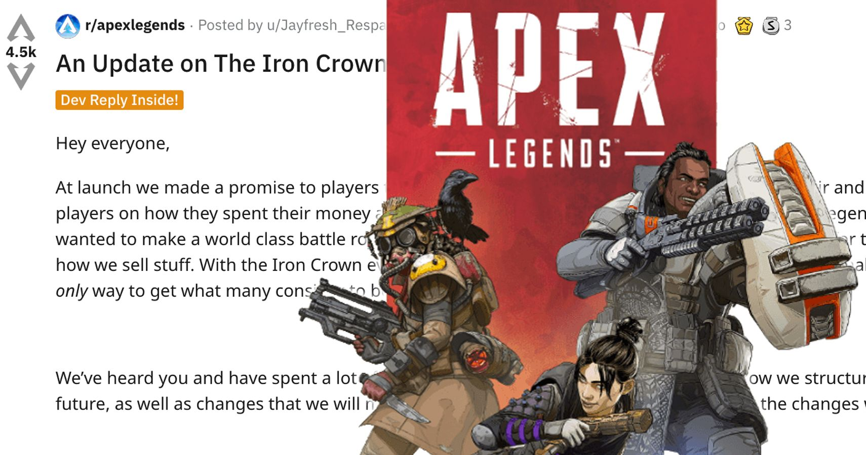 Respawn Devs Are Blasting Apex Players On Reddit For Being