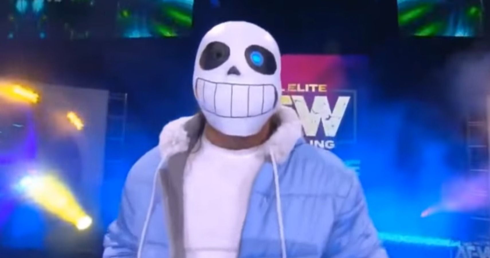 Kenny Omega Showed Up To An Aew Match Dressed Like Sans From Undertale