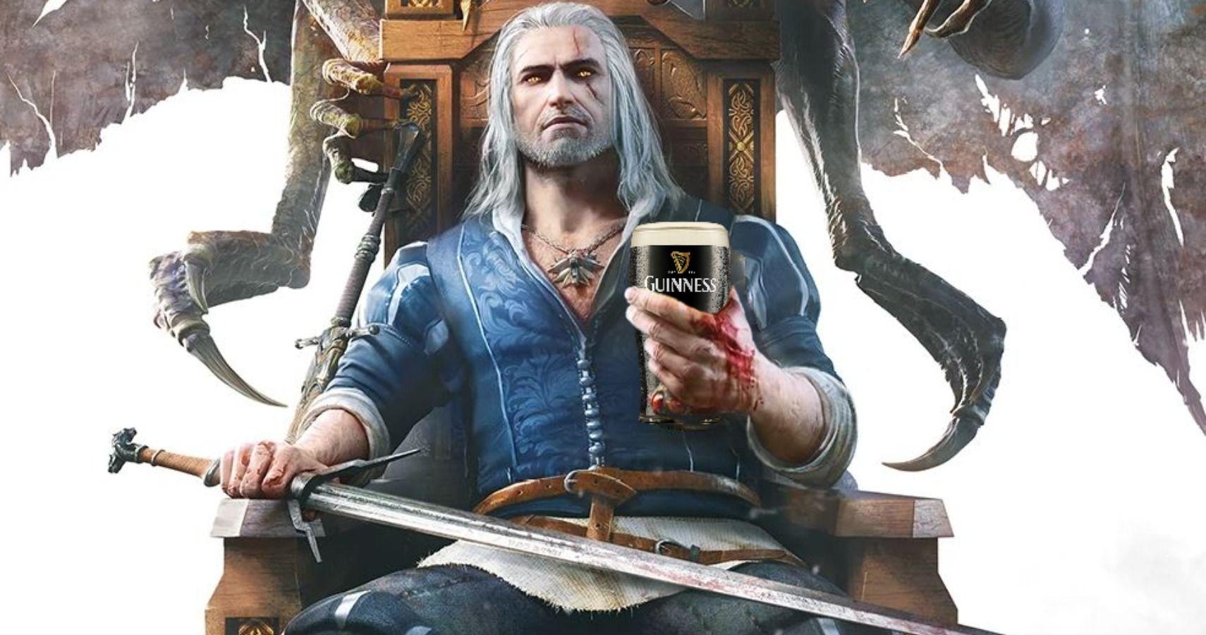 Geralt Of Rivia Definitely Drinks Guinness